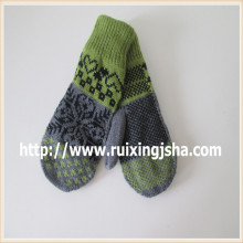Women knitted Mitten With Fleece Lining