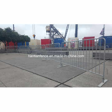 Event Safety Galvanized Flat Feet Crowd Control Barrier