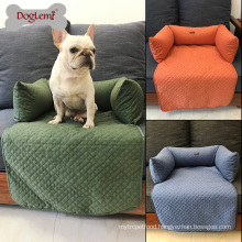 Warm Quilted Sofa Bed for Dog Washable Luxury Pet Sofa Dog Bed