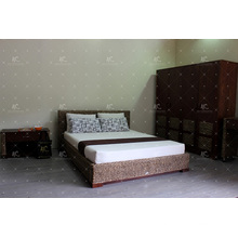 Natural Water Hyacinth Bed Simple Design for Bedroom Furniture