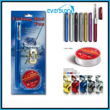 Línea de pesca, caña de pescar, paquete de regalo de carrete de pesca, barra de pluma