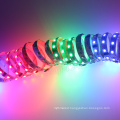 Artnet DMX outdoor driveway lighting flexible heat addressable rgb led strip 24v