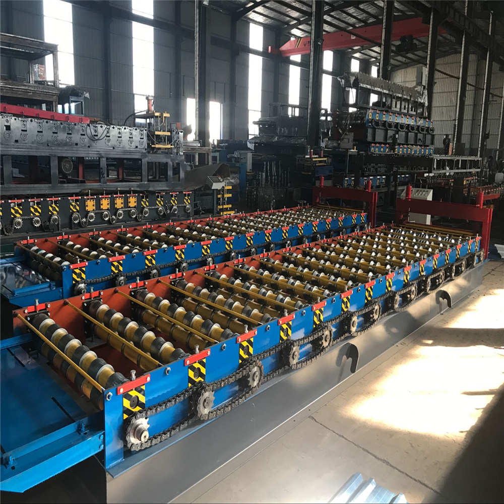Steel Galvanized Roof Wall Panel Roll Forming Machine
