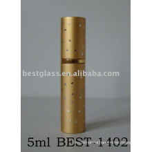 5ml aluminium perfume bottle with yellow color and printing
