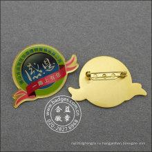 Организационный значок, изготовленный на заказ эпоксидная капает pin отворотом металла (GZHY-ЛП-022)