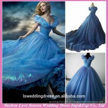 RW0001 Fotos reais Vestido Cinderella Fantasia Com Borboleta Para Cinderela Cosplay Costume Princesa 2015 vestidos Cinderela Azul