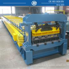 Rollo de cubierta de piso de construcción que forma la máquina