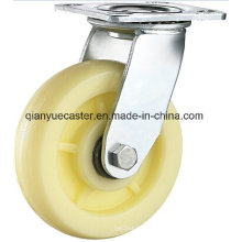 Industrial White PP Heavy Duty Adjustable Caster with PP Wheel Caster
