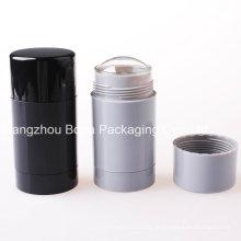 Recipientes plásticos vazios redondos do desodorizante de 30ml 50ml 75ml para o empacotamento dos cosméticos