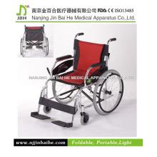 Cadeira de rodas portátil leve de alumínio