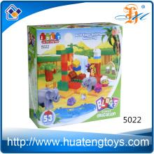 2016 Los nuevos juguetes plásticos de los bloques huecos de los niños animales DIY para los cabritos