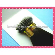 extensão do cabelo do anel nano cabelo remy cor marrom escuro 5a