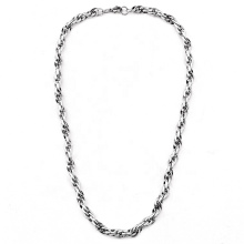 Korean Fashion Wild Hipster Stainless Steel Men's Necklace Hiphop Silver Chain