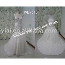WD7615 correa de espagueti sirena cariño vestido de boda de la muestra de verdad real