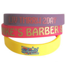 2016 Supply Embossed Wristbands with Color Printed