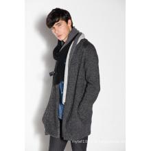 Acrylique en laine en nylon Whosale en tricot Cardigan homme avec fermeture à glissière