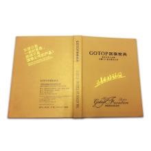 Livro de impressão de offset personalizado com capa dura colorida