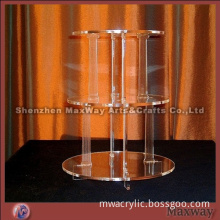 Name:Round 3-Tier Transparent Acrylic Cake Display Holder Shelf for Party