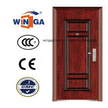 Beste Preis Sicherheit Metall Außen Stahl Eisen Tür (WS-121)