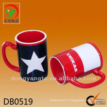 New product 475cc glazed ceramic beer mug