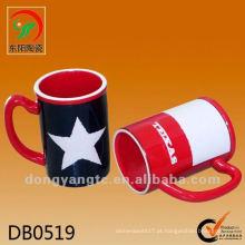 Novo produto 475cc copo de água de cerâmica vermelha