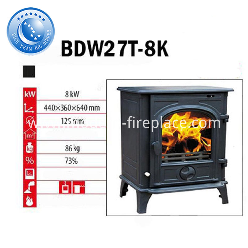 86KG Cast Iron Wood Burner Stoves