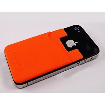 Custom Made telefone celular pegajoso titular do cartão de silicone
