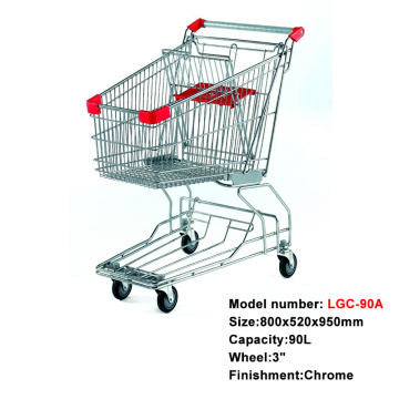 fashion metal hand shopping cart with children seat