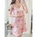 Correa de espagueti de volantes multicolores impresa ropa de dormir pijamas de verano Fabricación al por mayor de prendas de vestir de las mujeres de moda (TA0003P)