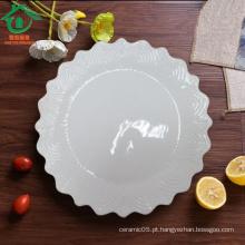 Gear Shape Atacado Placas de cerâmica Tapas, placas de porcelana