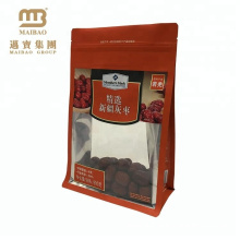 Guangzhou Factory Cheap Oem Custom Design Laminated Material Flat Bottom Zip Lock Snack Food Packaging Jujube Bags