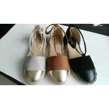 Lasted Women Flat Shoes with Simple Design (NU022)
