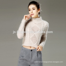 Women wholesale 2017 knit hollow fashion sweater