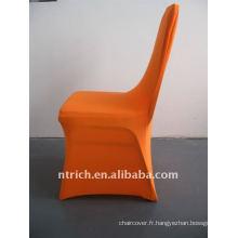housse de chaise en spandex orange, CTS679, pour toutes les chaises