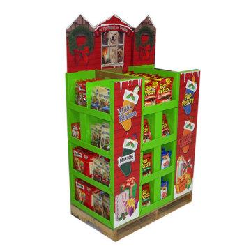 Pop Cardboard Dumpbin Display for Food, Advertising Display Stand