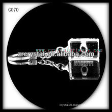 laser etched crystal keychain and blank crystal G070