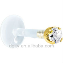New Fashion Push in Diamond lip rings Labret Monroe body piercing/jewelry