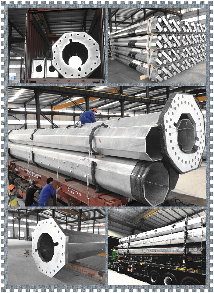 Hot DIP Galvanized 25m High Mast Steel Pole