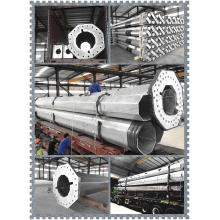 New Fashion Design for Galvanized Tubular Poles Hot DIP Galvanized 25m High Mast Steel Pole export to Namibia Factory