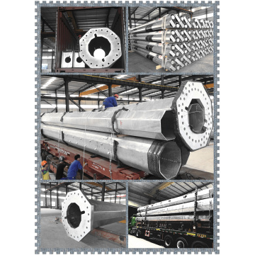 Galvanized Tubular Steel Power Pole