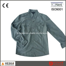 Men′s Army Style 100% Nylon Long Sleeve Workwear Shirt