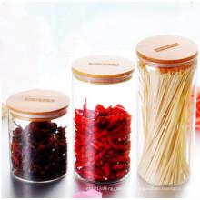 Eco-Friendly Food Grade Material Frasco de vidrio Almacenamiento Alimentos Jars