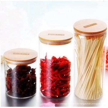 Eco-Friendly Food Grade Material Glas Jar Lagerung Lebensmittel Gläser