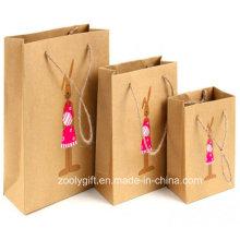 Custom Design impressão Kraft Paper Bag Fabricantes