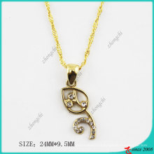 Gold Tone Leaf Alloy Necklace (PN)