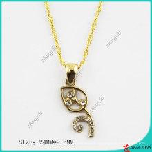 Золотой тон сплава ожерелье листьев (Пн)
