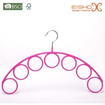 Eisho Pink Vinyl Metal Scarf Hanger