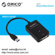 ORICO DU3D USB 3.0 a DVI placa de vídeo externo Multi-Monitor Graphics Adapter
