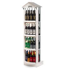 Removable 4 Tiers Wood Beverage Drinks Display Showcase