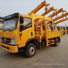 Caminhão guindaste montado sobre reboque com lança telescópica modelo 8 toneladas para venda
